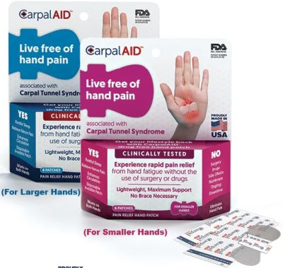 CarpalAid Free Carpal Tunnel Pain Relief Patch Sample