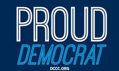 DCCC Free Proud Democrat Sticker - US