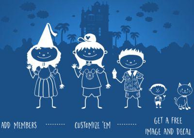 Disney Parks Free Build Your Own Custom Disney Family Decal