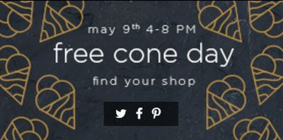 Haagen-Daz Free Cone Day on May 9, 2017 from 4pm - 8pm - US