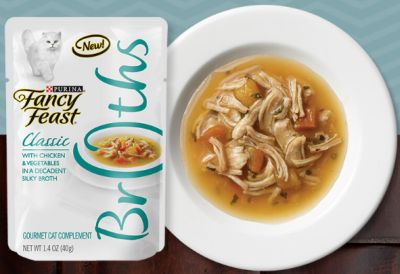 Purina Fancy Feast Free Sample of Broths with Chicken Cat Food - US