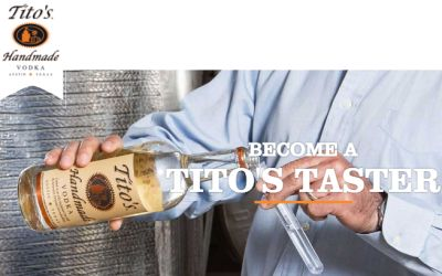 Tito's Handmade Vodka Be a Tito's Taster for Free Swag - US