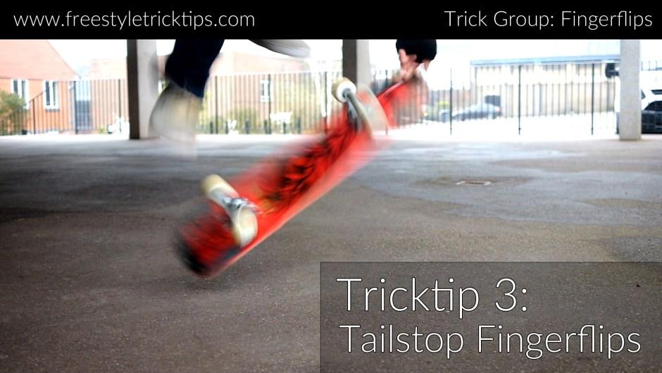 Tailstop Fingerflip Trick Tip