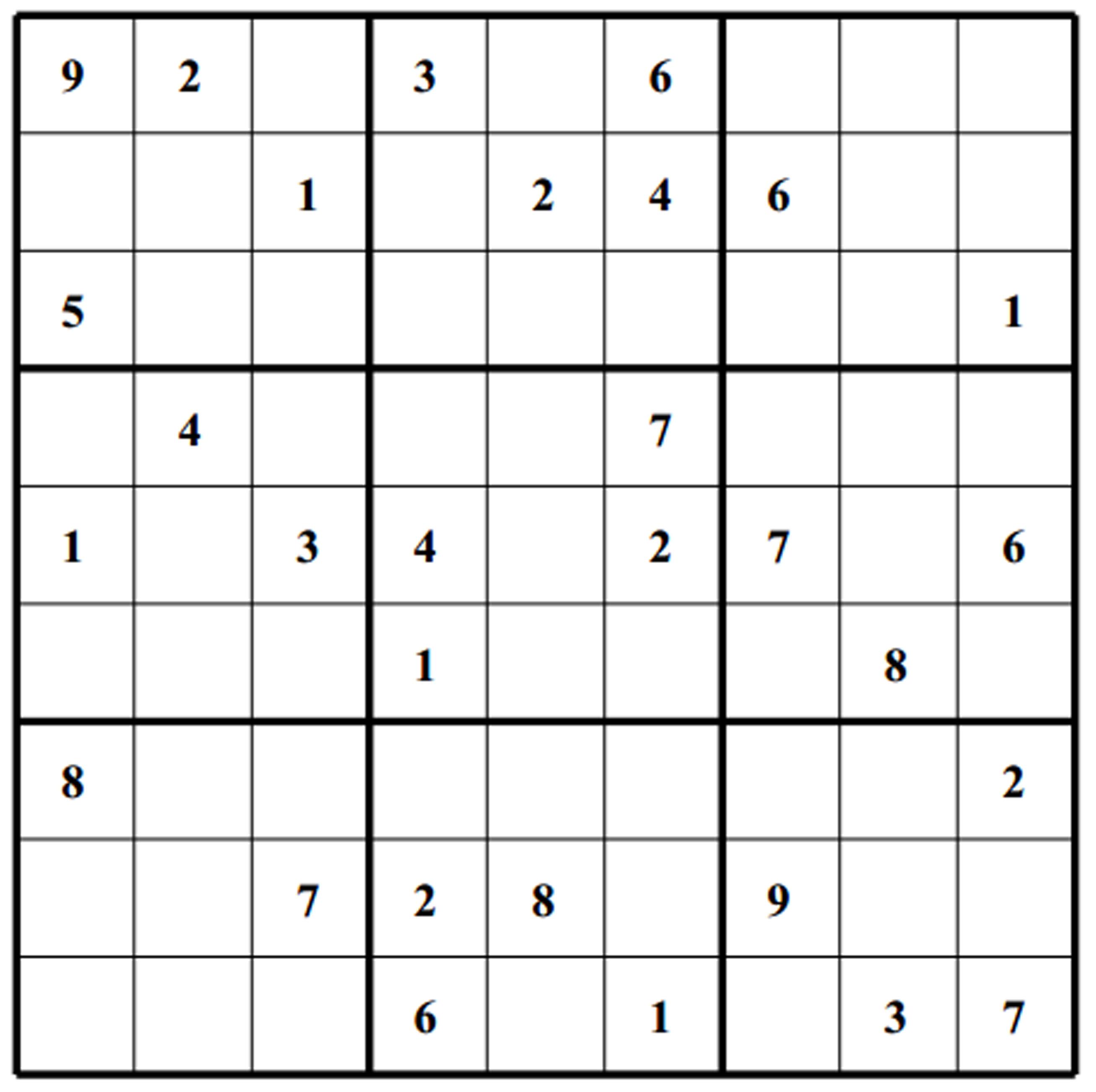 Free Sudoku Puzzle Hard 012