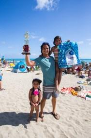 Freesurf Mag's Chris Latronic stoked on a 2nd place finish Photo: Keoki