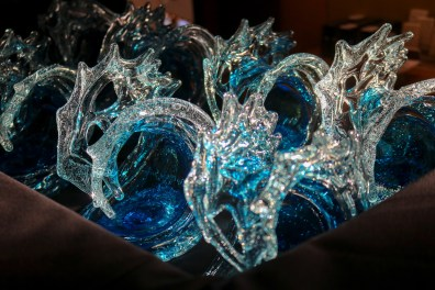 Manulele Awards trophies from David Wight Glass.