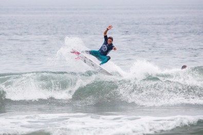 HUNTINGTON BEACH, UNITED STATES - AUGUST 4: Sally Fitzgibbons of Australia is eliminated from the 2019 VANS US Open of Surfing after placing second in Quarterfinal Heat 2 at Huntington Beach on August 4, 2019 in CA, USA. (Photo by Jenny Herron/WSL via Getty Images)
