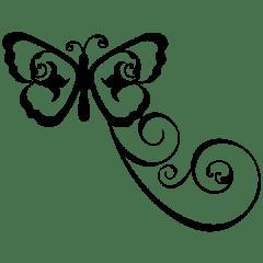 Flourish Butterfly Silhouette By InspireCreateCelebrate | Free SVG