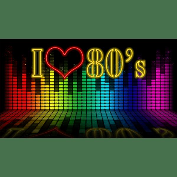 Download I Love 80s | Free SVG