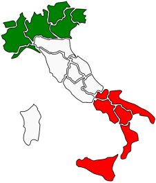 Italy map with regions vector image | Free SVG