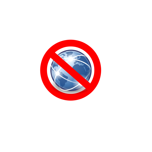 No Global Internet Vector Icon | Free SVG