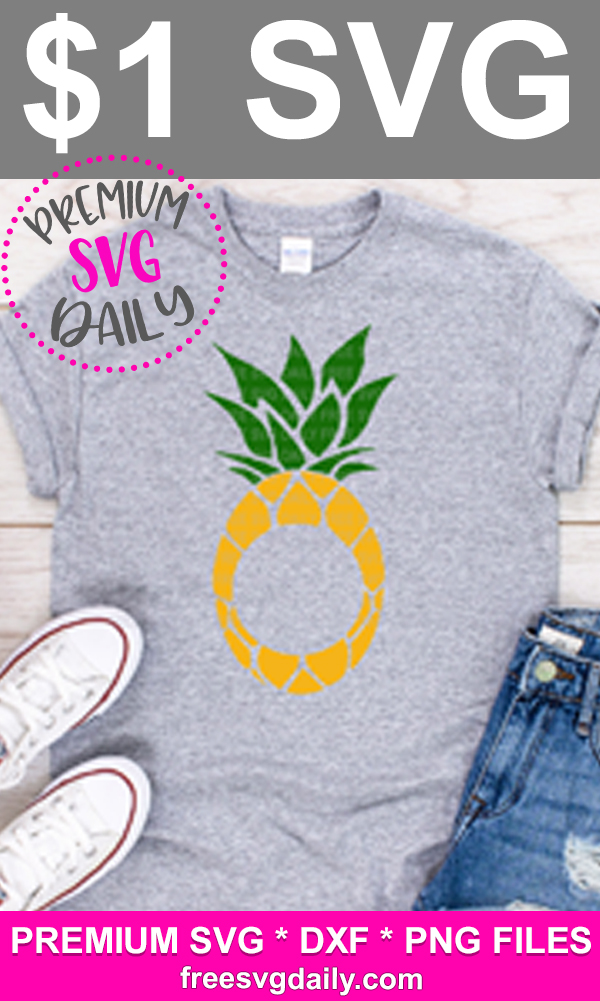 Download Pineapple Monogram SVG Cut Files For Cricut And Silhouette ...