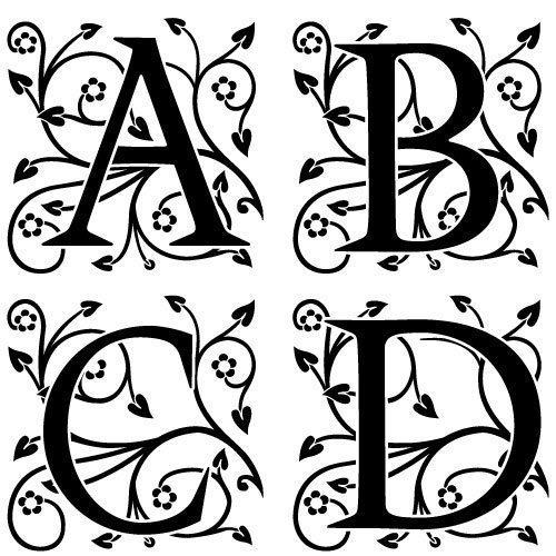 Ornate Floral Monogram Font SVG