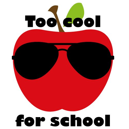 Quote Too Cool For School SVG