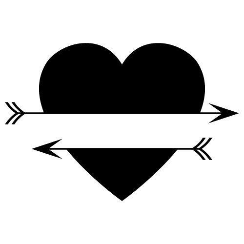 Download Free SVG Files | SVG, PNG, DXF, EPS | Split Love Heart Arrows