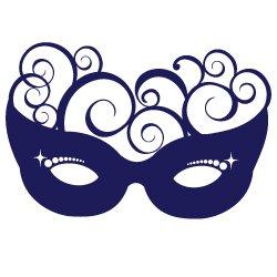 Masquerade Swirl Mask SVG