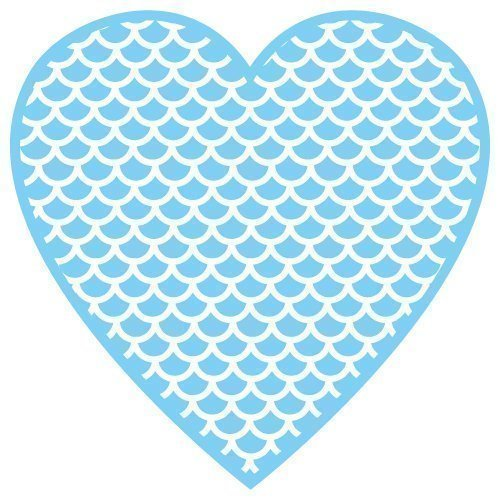 FREE SVG cut file of heart with scales, mermaid valentines