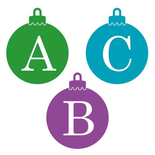 Free Christmas Bauble Monogram Font and cut files at www.freesvgdesigns.com. FREE downloads includes SVG, EPS, PNG and DXF files for personal cutting projects. Free vector / printable / free svg images for cricut