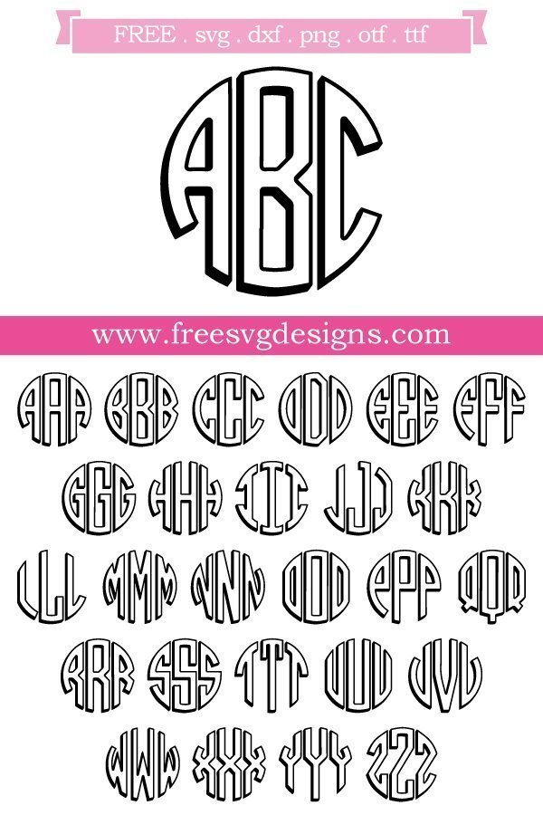 Free Monogram Fonts - FREE downloads for your cutting projects!