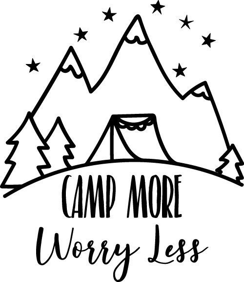 Free camping cut files at www.freesvgdesigns.com. Our FREE downloads includes OTF, TTF, SVG, PNG and DXF files for personal cutting projects. Free vector / printable / free svg images for cricut #freesvg #diycrafts #svg #cricut #silhouettecameo #svgfile