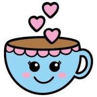 Free Kawaii style tea cup SVG design