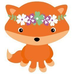Free SVG Files - Fox with Flower Crown