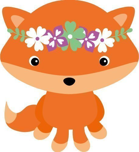 Free SVG Files   SVG, PNG, DXF, EPS   fox with flower crown