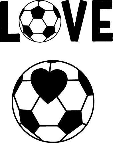 Download Love Soccer | SVG, PNG, DXF, EPS | Free SVG Files