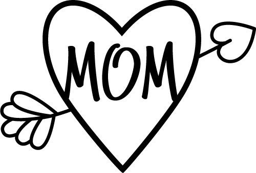 Download Free SVG Files | SVG, PNG, DXF, EPS | Mom Love Heart