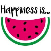 Quote Happiness Is Watermelon SVG