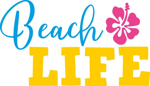 Free SVG Files | SVG, PNG, DXF, EPS | Beach Life