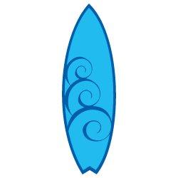 Swirl Surfboard SVG