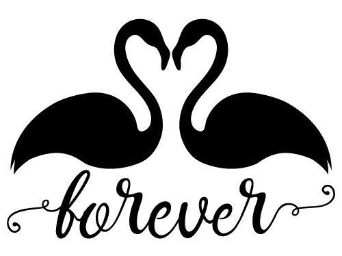 Quote Forever Flamingos SVG