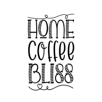 Quote Home Coffee Bliss SVG