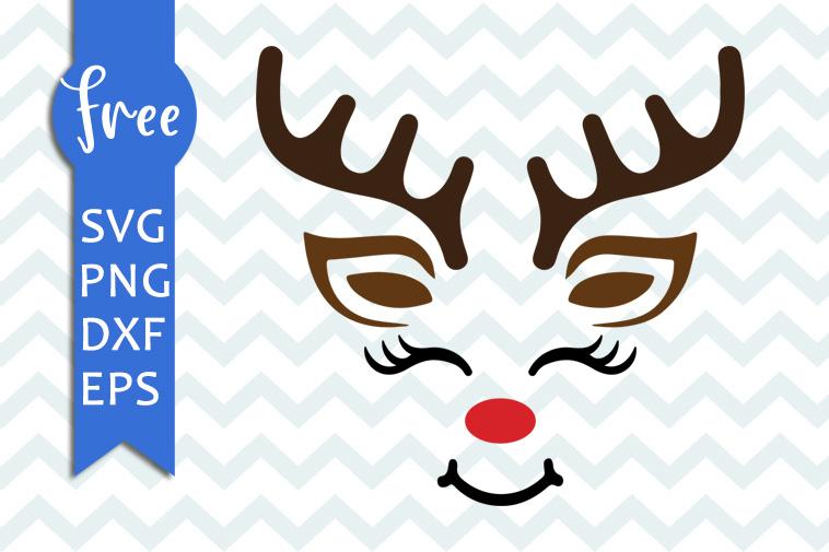 Download Reindeer face svg free, christmas svg, reindeer svg, shirt ...