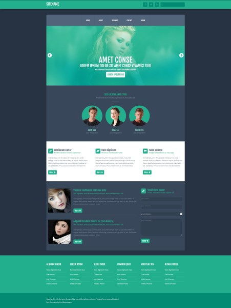 Free One Page Website HTML Template   Free HTML5 Templates Free One Page Website HTML Template