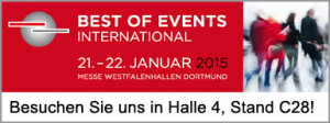 Besuchen Sie uns, FreeTent, auf der Best of Events International 2015 in Dortmund.