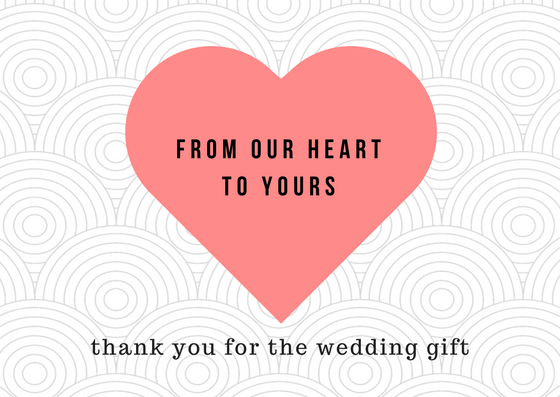 Thank You Card Wedding Gift: Lovely Thank You Card Wording