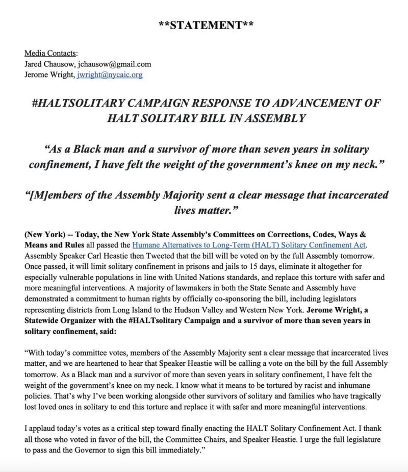 HALT Passes Out of 4 Assembly Committees! Social Media Guide: Please Post Now!