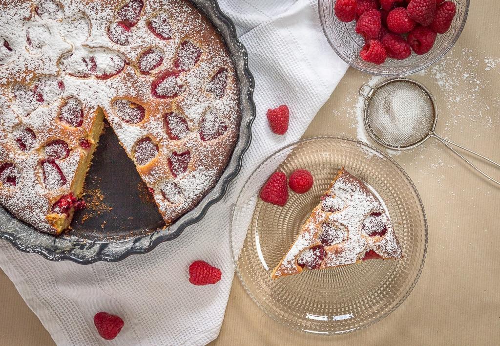 Gâteau Framboises Ricotta