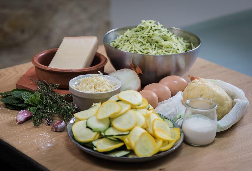Une délicieuse recette de tarte salée à la courgette et au comté ! Une parfaite petite quiche végétarienne :)