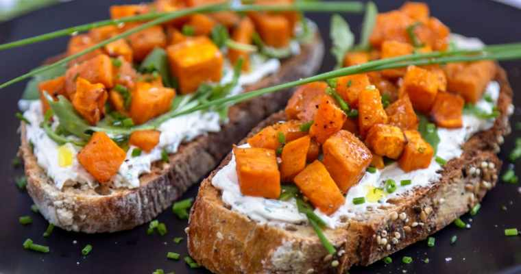 Tartines Fromage Frais Patate Douce