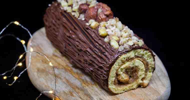 Bûche roulée Marron Chocolat