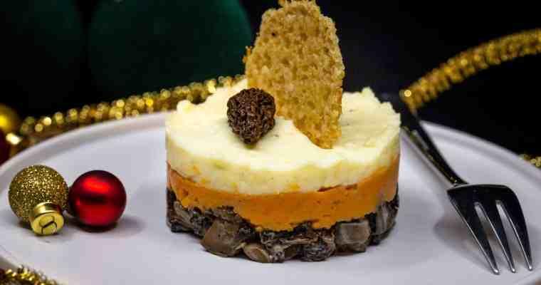 Parmentier de Noël aux morilles (Végane et Sans Gluten)