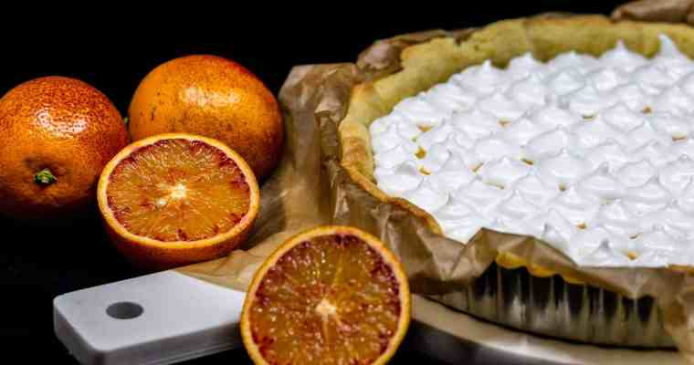 Tarte Orange Sanguine Meringuée