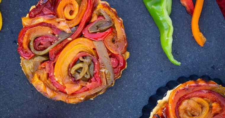 Tartelettes Tatins aux Poivrons (Vegan)
