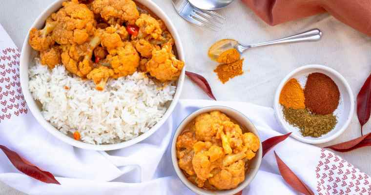 Chou Fleur crémeux au Garam Massala (Vegan et Sans Gluten)