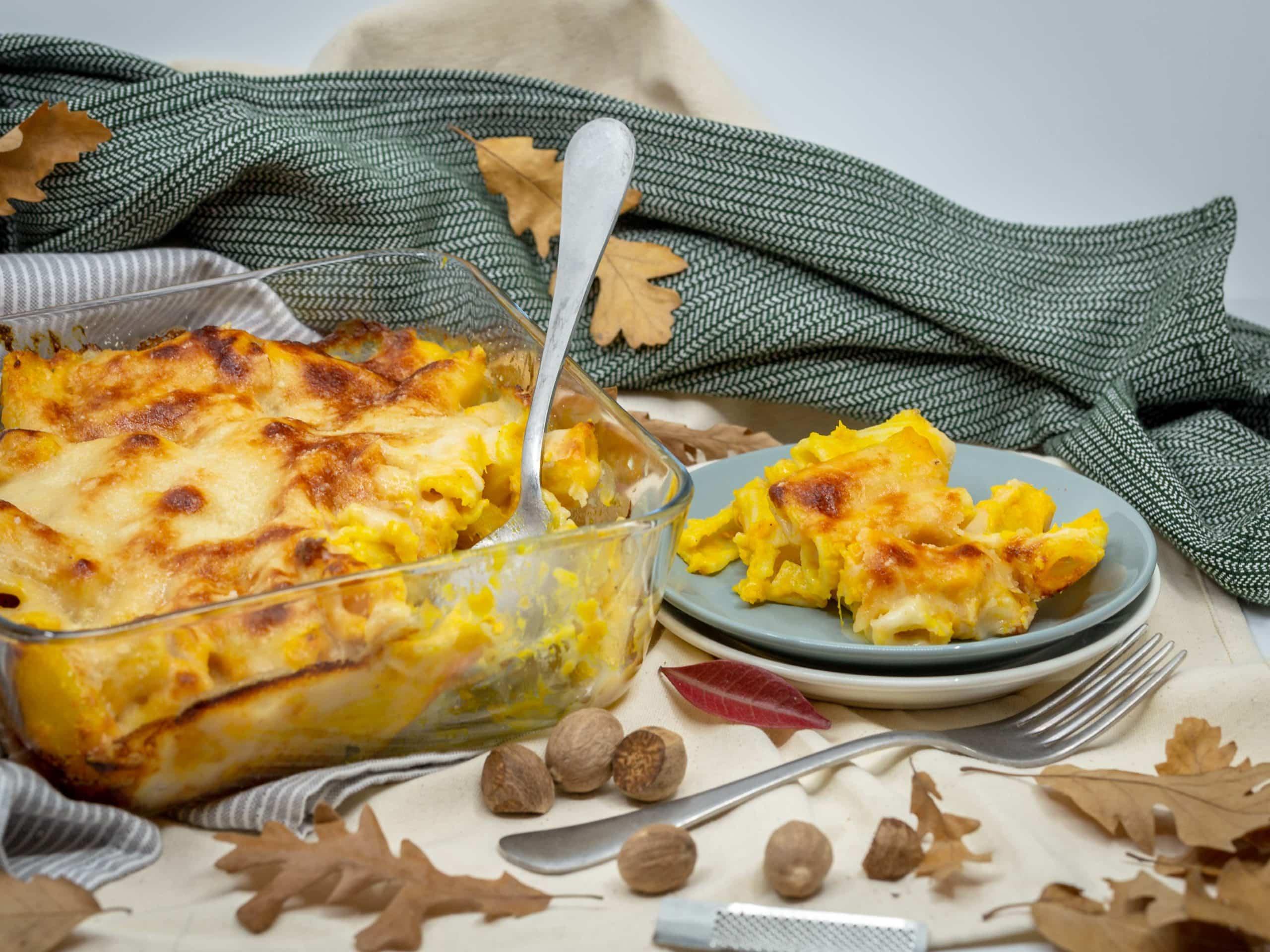 Gratin de Pâtes Végétarien à la Courge et sa Béchamel au Parmesan