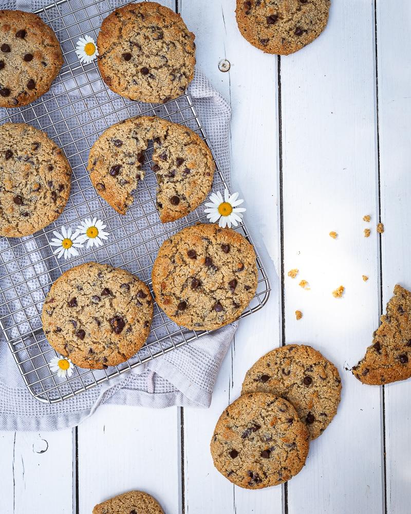 Cookies Sésame Chocolat Noir (Vegan et Sans Gluten)
