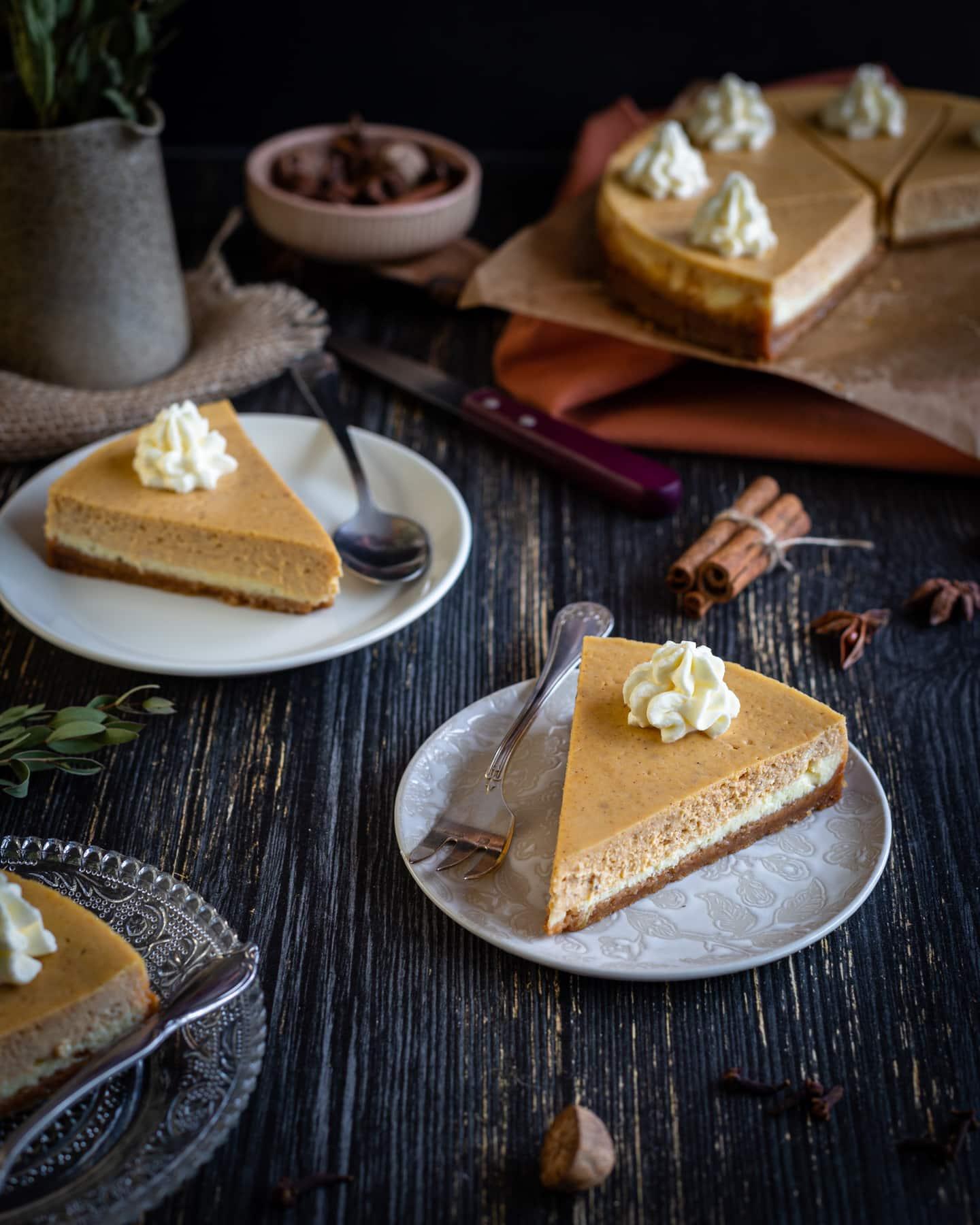 Cheesecake façon Pumpkin Pie